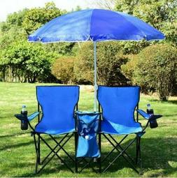Camping Chairs Folding Picnic Portable Adjustable With Umbre