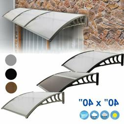 Front Door Window Awning Patio UV Protected Eaves Canopy Rai