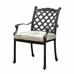 Furniture of America Gamilt Metal Patio Dining Chair