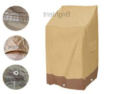 Garden Patio Waterproof Furniture Cover Stacking Chair 6 Cha