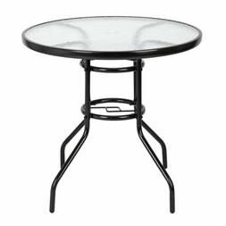 """Garden Table 32"""" Patio Round Tempered Glass Top Dining Table"""