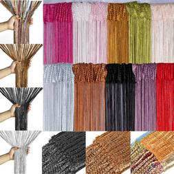 Glitter String Curtains Room Door Divider Window Patio Fly S