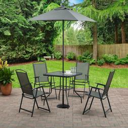Gray Patio Furniture Set With Umbrella Table And Chairs Sets