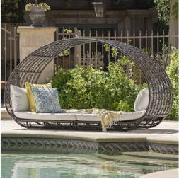Grey Outdoor Day Bed Cushions Christopher Knight Patio Loung
