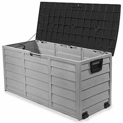heavy duty large deck box outdoor patio