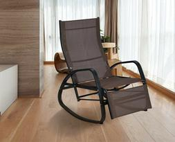 Home Patio Rocking Chair Indoor Outdoor Reclining Lounger Co