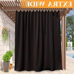RYB HOME Indoor Outdoor Curtain Home Deck Heavy Duty Tab Top