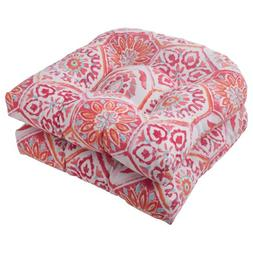 Pillow Perfect Outdoor Summer Breeze Wicker Seat Cushion, Fl