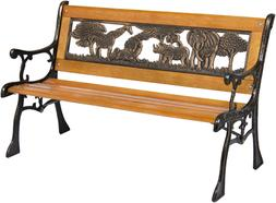 Best Choice Products Kids Mini Sized Park Bench Decoration A
