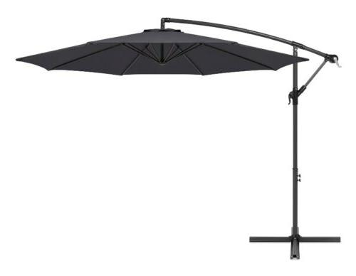 10 offset hanging outdoor market patio umbrella