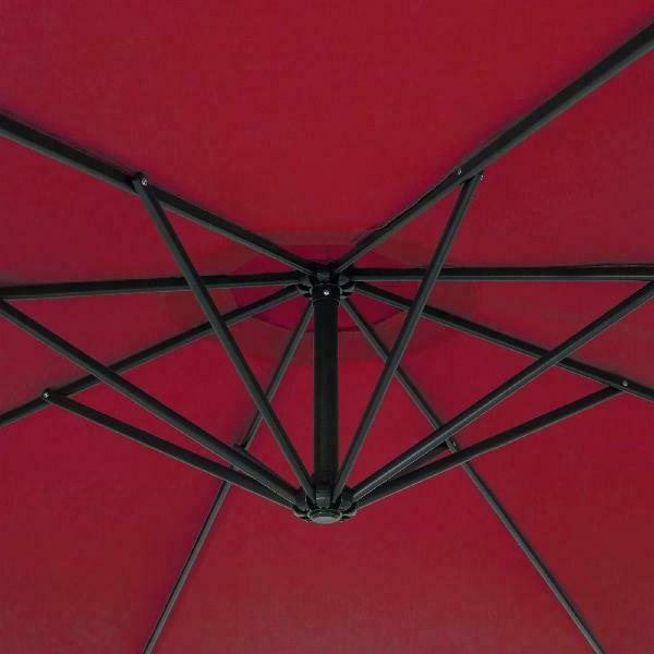 Best Products 10ft Offset Hanging Patio Umbrella w/ T