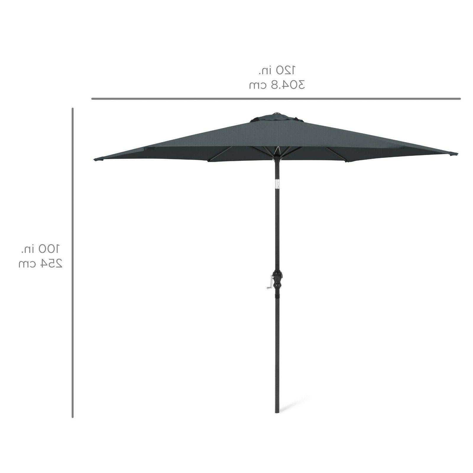 10ft Outdoor Steel Patio Tilt,