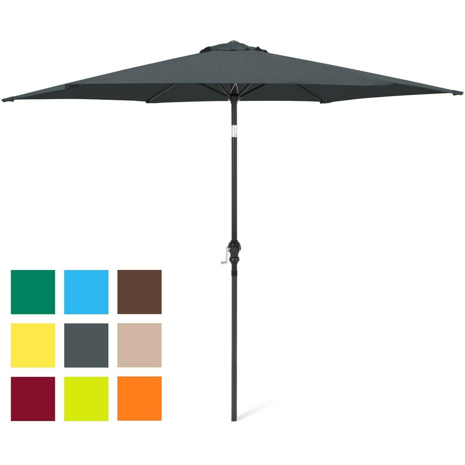 10ft outdoor steel market patio umbrella decoration