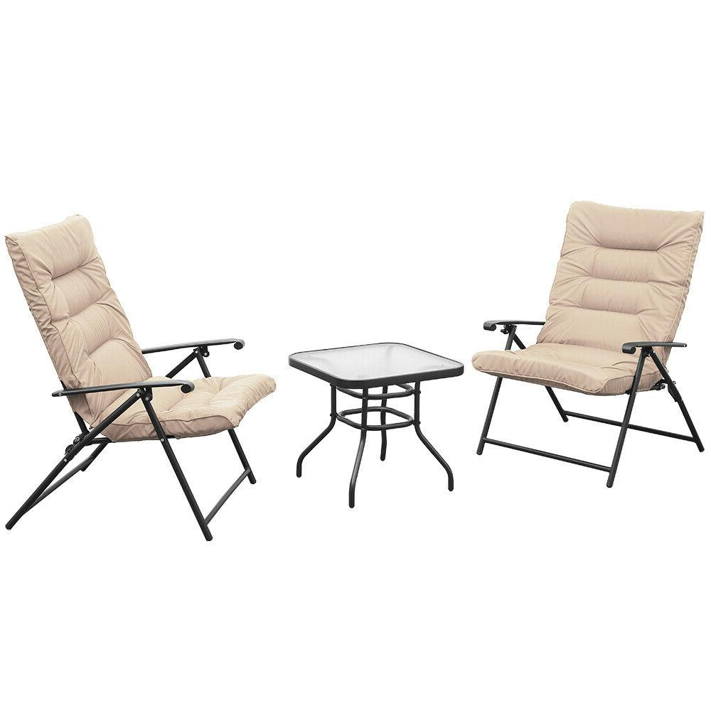 3 Folding Set Reclining Adjustable Reclining Patio Furniture