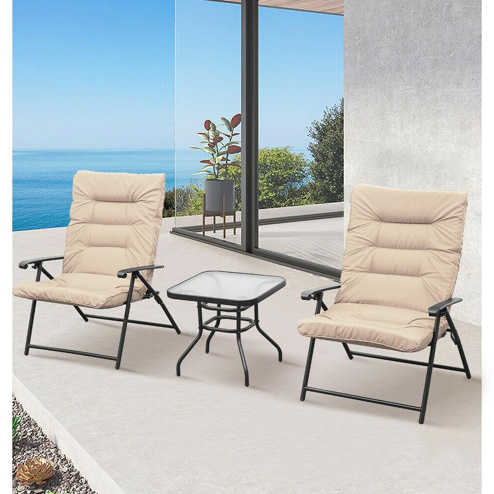 3 PC Chair Set Reclining Furniture