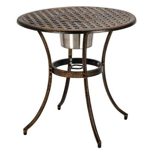 3-Piece Patio Cast Bistro Patio Table