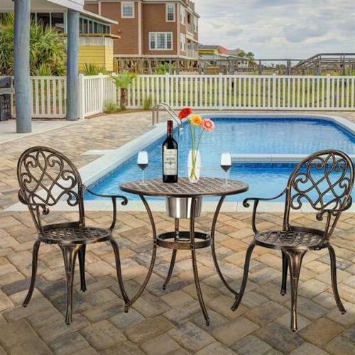 3-Piece Bistro Set Table