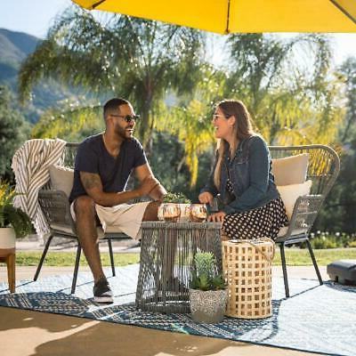 Best Choice Products Patio Conversation Bistro Set 2 Chairs