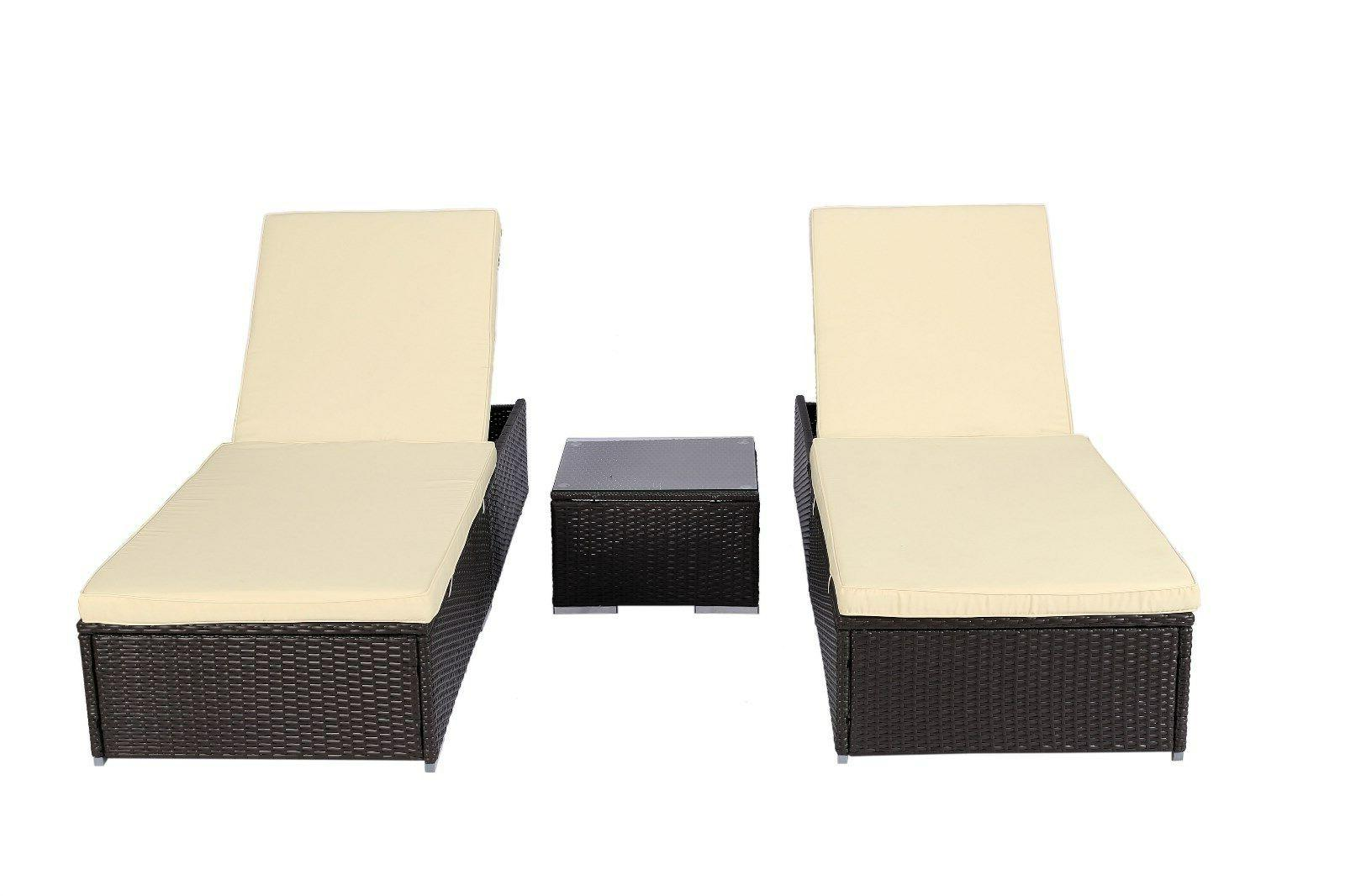 3 Rattan Bed Furniture w/Table