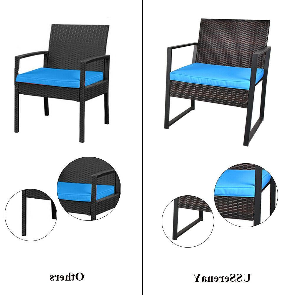 3 Pieces Rattan with