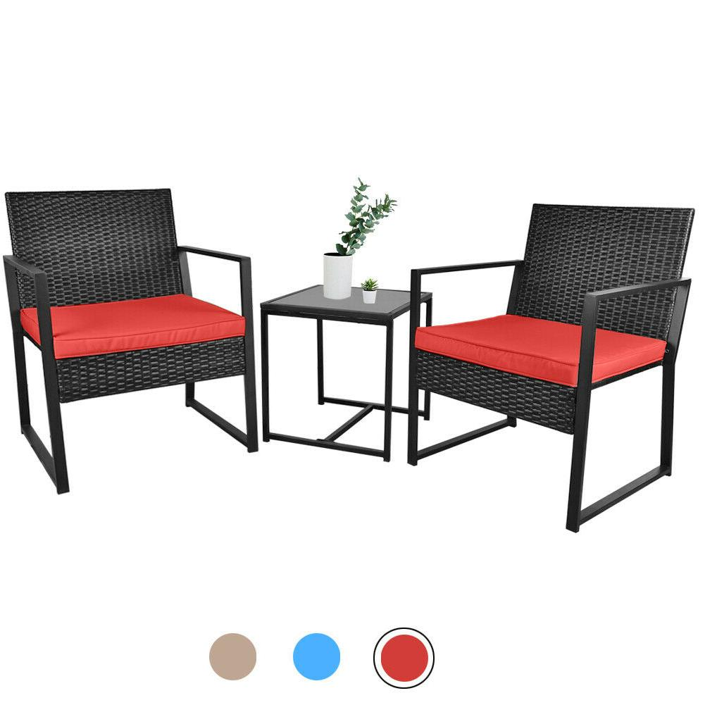 3 Conversation Rattan with Cushions