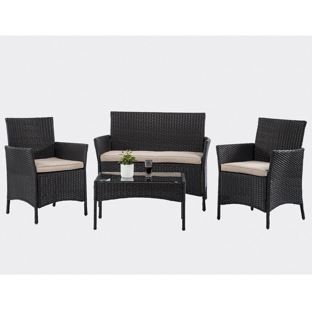 4 pieces outdoor patio furniture sets
