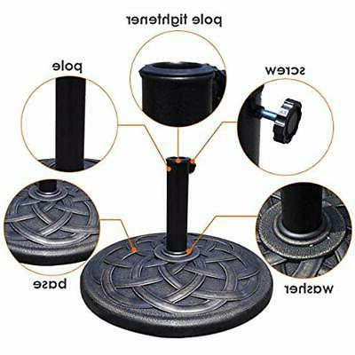 43lbs Patio Umbrella Stand, Cast Holder For