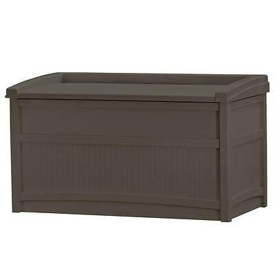 50 Gallon Resin Deck Box Weather Resistant Outdoor Patio Fur
