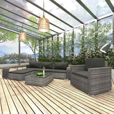 8 piece garden lounge set with cushions