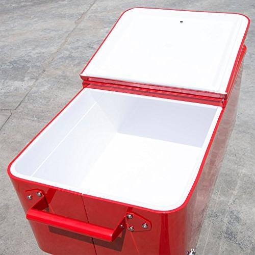Outsunny QT Ice Chest Party Drink Cooler Cart -