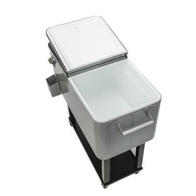 80QT Rolling Warm Food Patio Outdoor Stainless Steel