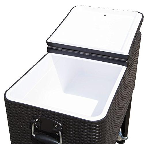 Outsunny Quart Steel Outdoor Cooler Brown