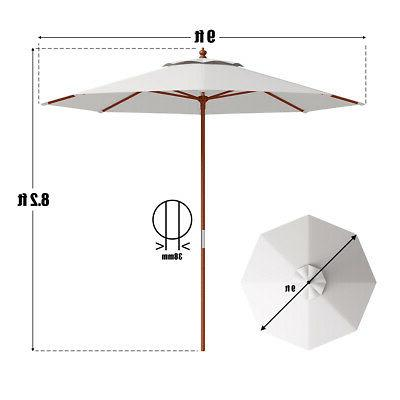 Adjustable 9FT Umbrella Pole