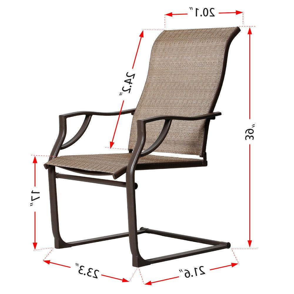 Bali Outdoor All-Weather Spring Chairs Set of 2 Lawn