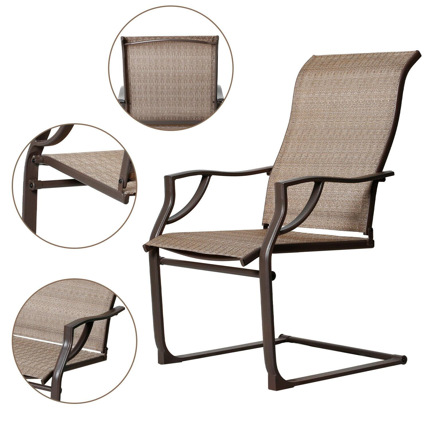 Bali Motion Patio Dining Chairs Lawn