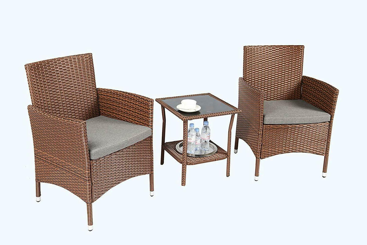Baner Pieces Outdoor Furniture Complete Cushion PE Wicker