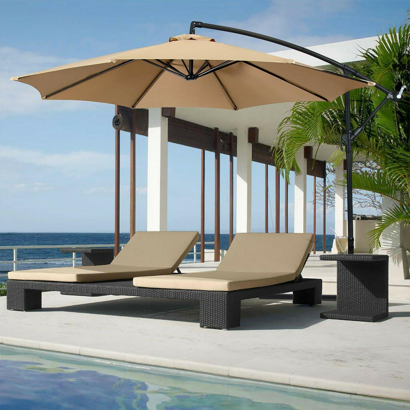 Best Choice Products 10ft Offset Hanging Market Patio Umbrel