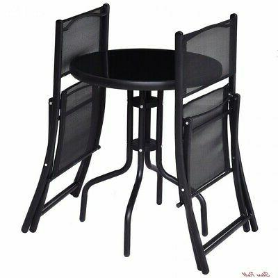Bistro Table Foldable Storage Durable