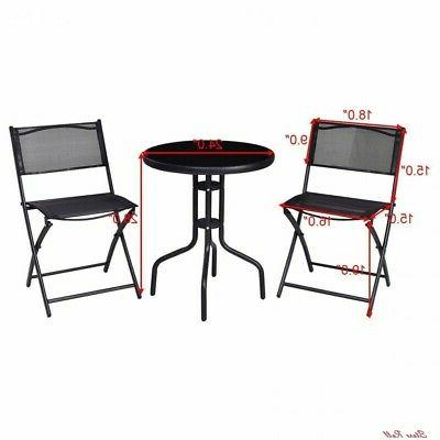 Bistro Set Foldable Durable Home Outdoor New