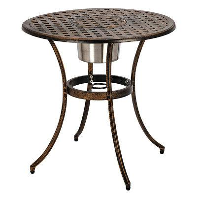 Cast Aluminum Piece Set of Table Chairs with Buck