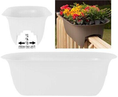 deck rail planter drainage hole indoor outdoor