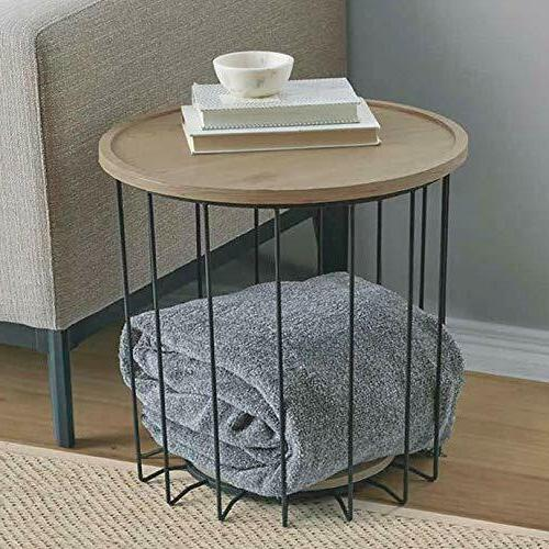 Storage Side End Table Furniture Patio Deck Living Room Nigh