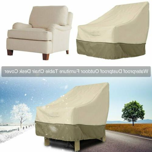 garden patio waterproof furniture chair cover single