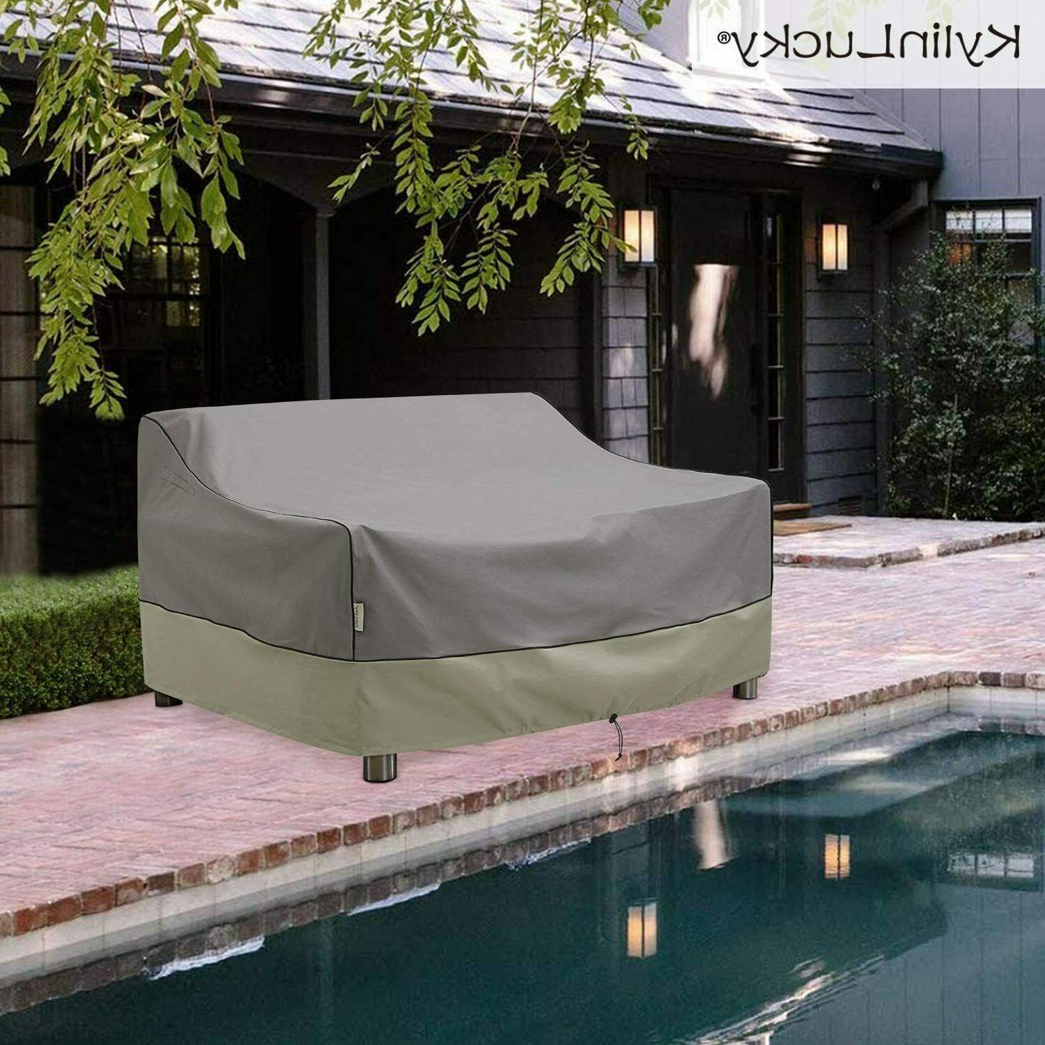 Kylinlucky Waterproof, Patio Loveseat Cover Fits Up