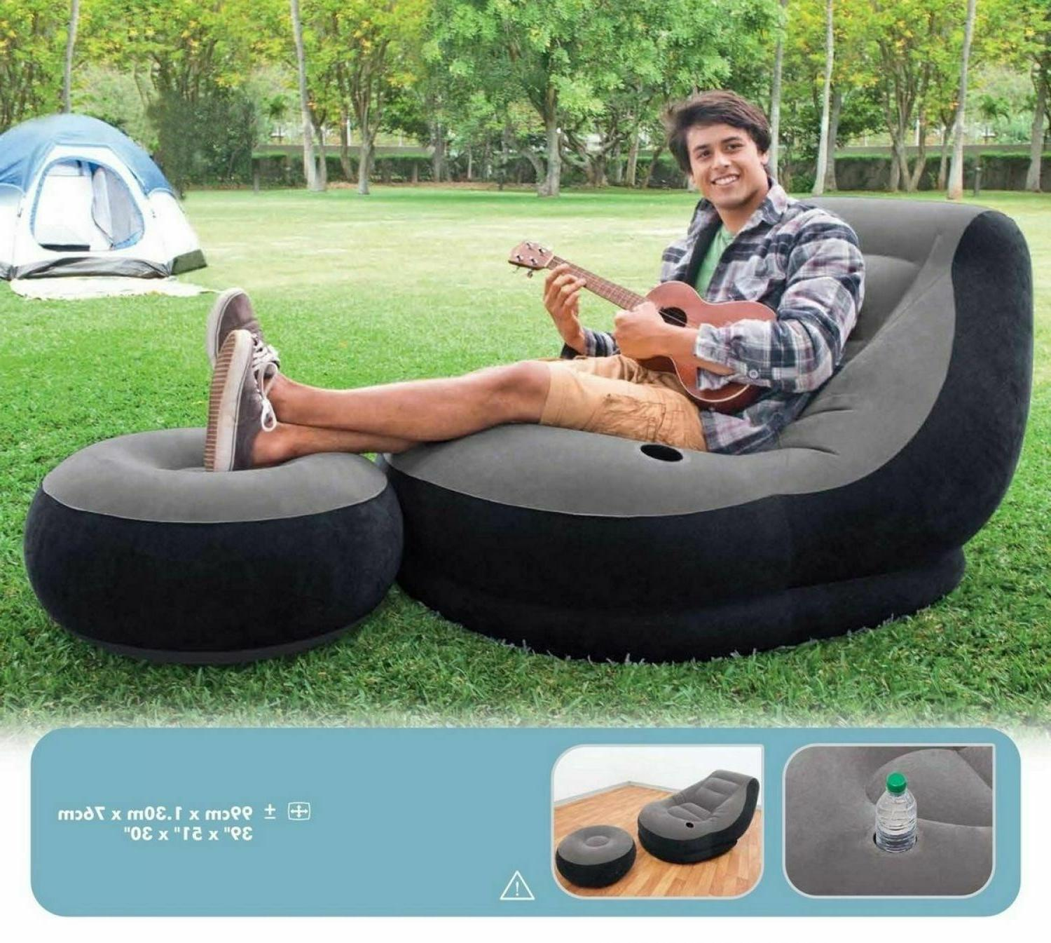 Large Video Gaming Chair Inflatable Intex Ultra Lounge Ottom
