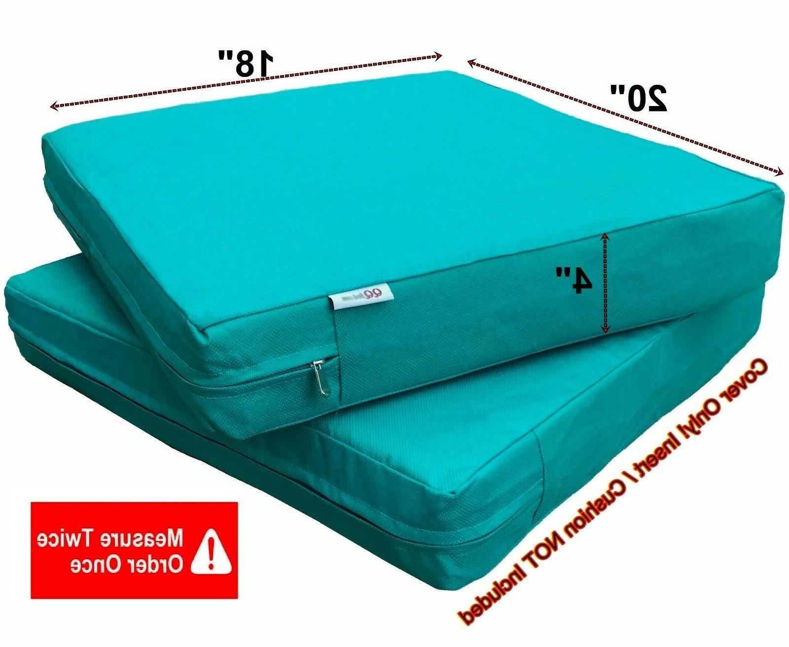 Waterproof Outdoor Seat Chair Patio Cushion Cover Duvet Case