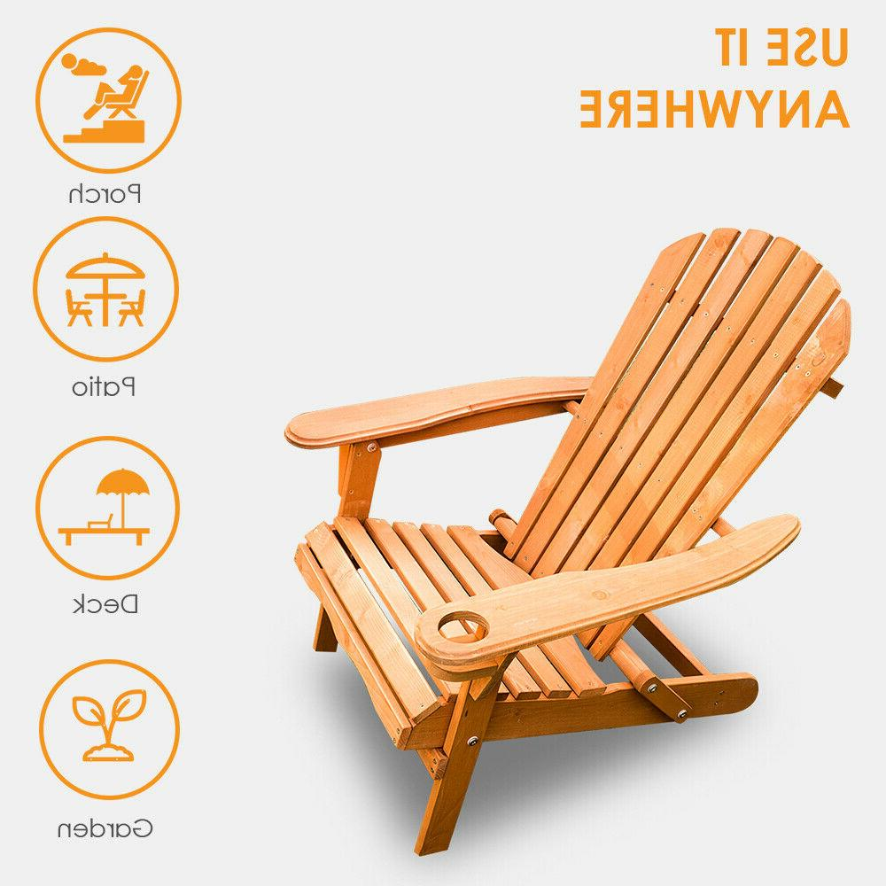 new outdoor wood adirondack chair foldable patio