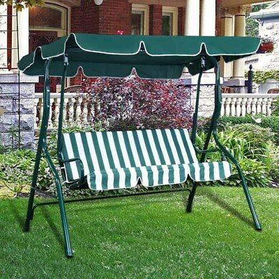 Outdoor Canopy Chair Lounge 3-Person Hammock