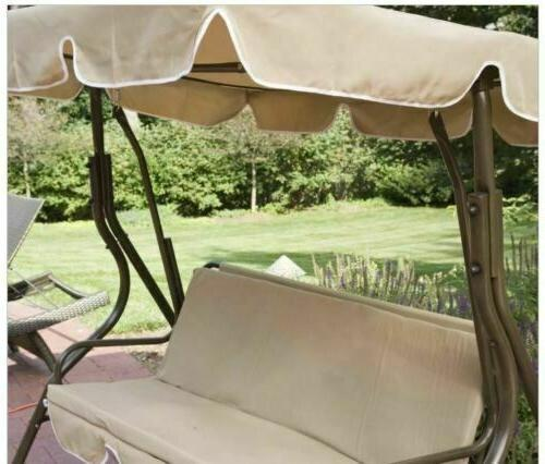 Outdoor Canopy Porch Gliding Furniture Beige