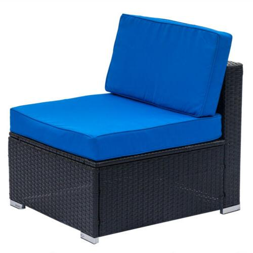 7PCS Outdoor Patio Couch Wicker Cushions